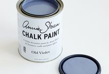 Old Violet Chalk Paint® / Like deep Parma violets or blue lavender it is a wonderful 18th century colour used for colouring the inside of furniture- like the lining of a jacket - or for using with as the base with Paris Grey on top and distressed ' It is of course wonderful used on its own.  Purchase online at www.artworksnw.com or find a retailer near you at www.unfolded.com.