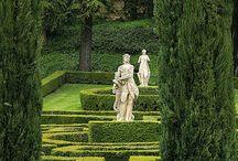 French, Italian garden