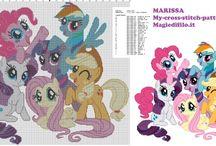 My Little Pony cartoons free cross stitch patterns / My Little Pony cartoons free cross stitch patterns, Pinkie Pie, Rainbow Dash, Fluttershy, Apple Jack...