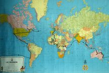 1988 WORLD TOUR : vintage Citroen / Illustration du premier Tour du Monde en Traction de Juillet 1988 a Janvier 1990 sur 100.000 km et 35 pays avec deux Traction Avant de 1953. Photos © Eric, Yann, Luc, Toff.