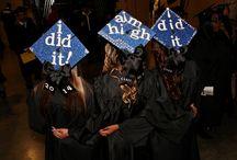 Graduation Mortar Board Inspiration / Ideas to decorate your graduation caps.