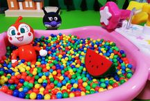 アンパンマンおもちゃアニメ❤ドキンちゃんのお風呂とバイキンマン Anpanman toys