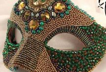Bead embroidery mask / Bead embroidery