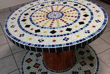 mosaico com tampas