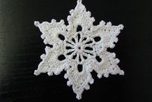 Crochet snowflakes & stars