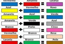 mistura de cores