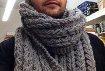 sciarpa 100% lana naturale lavorata a mano