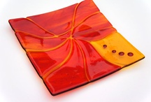Fused glass bowl & plate