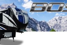 BOSS Fifth Wheel Toy Hauler / With a blend of function and luxury the Boss is the right choice. From our true 13' garages to our residential kitchens and living areas. Boss has something for everyone. http://cruiserrv.com/boss-toy-hauler