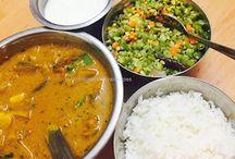 Spicy and delicious Vazhakkai Kara Kuzhambu / Plantain Curry Recipe