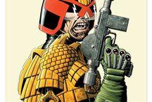 Comic Book Art - Judge Dredd and 2000AD / by Trevor Van As