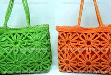 Knitted Crochet Handbags String Bags Straw #MegawayBags