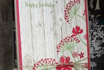 Carte anniversaire / Fleurs