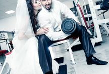 Wedding Gym / trash the dress in the gym or with weights..