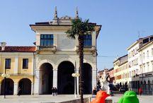 "#CrackingArt | Outlet Village, Palmanova / March 19 – June, 2015 | Cracking Art installation ""REgeneration"" @ Piazza Grande and Palmanova Outlet Village, Palmanova (Italy)"