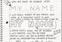 ABC to Calligraphy and Handwriting / A collection of calligraphy styles, letter and handwriting