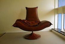 Hot club chair, fauteuil club Hot! / fauteuil design en cuir vintage. Design chair in vintage leather