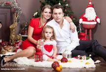 Фотосессия Новый год семья 2