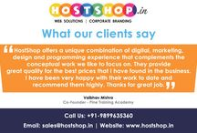 Testimonials | HostShop / Testimonial is a great way to know about client satisfaction. Check what our client say about.