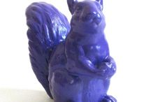 Colorful Critters / Colorful ceramic critters, odd charms, quirky gifts for home and life