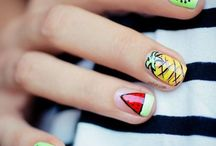 Cute summer nail designs fun and only few colours needed really cute and super awesome / Cut nail design