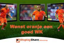 Oranje / DisplayShare wenst Oranje succes vanavond op alle digitale schermen te zien