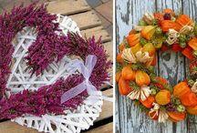 podzimní dekorace a výzdoba