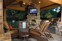 Lean-to, porch fireplaces