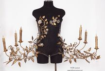 CORSET By FIORI. couture             #Corset #wearableart #metalcorset / One of a kind metal corset . www.lafioricouture .com