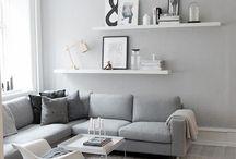 White&Gray living room