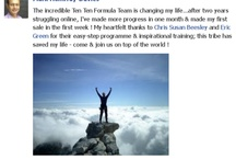 Ten Ten Formula / The Ten Ten Formula is a Training Platform for Empower Network co-created by Chris and Susan Beesley & Eric Green.  It is 10 webinars with resources showing members how they can create a residual income of $24K  per annum within 3-6 months