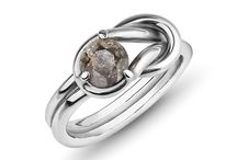 Uniqe Meteorite Rings / One and only meteorite rings with diamond cut and Heracles Knot.