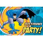 Boys Party: Batman Party Supplies / A range of printed colour Batman Tableware which includes napkins, plates, table cover, cups, cutlery in a variety of designs. A range of Childrens Superheros Fancy Dress can accompany these designs and is great for kids parties to create the perfect themed party.
