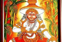 Paintings - Indian Kerala Murals