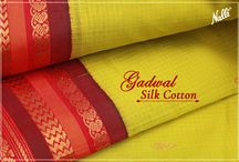 Gadwal Sarees / The traditional sarees in a myriad of colours, from Telangana
