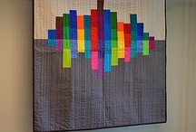 Modern quilt wall hanging