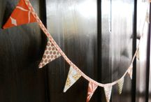 Bunting, garlands, flags and mobiles / Some happy ways to decorate with textile and paper