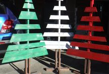My Pallet Trees / pallet trees made by my husband.