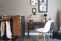 Antique desk makeover / Fusion mineral paint. Antique desk makeover