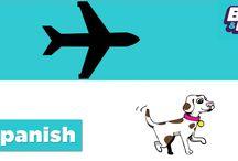 Medios de transporte / Learn Spanish transportation words with BASHO & FRIENDS