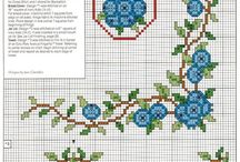 cross stitch corners