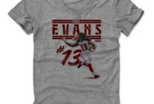 Mike Evans / Michael Lynn Evans III (born August 21, 1993) is an American football wide receiver for the Tampa Bay Buccaneers of the National Football League (NFL). He played college football at Texas A&M, where he earned consensus first-team All-American honors after recording a school record of 1,394 receiving yards on 69 receptions,[1] and was drafted by the Buccaneers in the first round with the seventh overall pick in the 2014 NFL Draft.