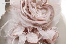 Flores de tela bodas y comunión