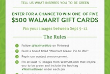 Walmart Green: Pin To Win http://pinterest.com/pin/844493651186567/ / Go green and find the products at Walmart that can inspire you :)
