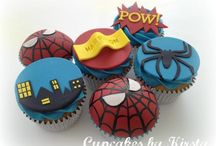 spiderman cakes & cupcakes