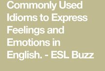 expressing feelings with idiomd