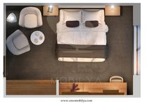 Mode Otel Odası / Mode Hotel Room, Hotel Furniture, Luxury Furniture, Hotel Equipment, Decoration, Design, Hotel Room, Hotel Design, Hotel Decoration, Furniture, Equipment, Mattress, Bed Base, Headboard, Armchair, Coffee Table, Make-up Table, Mirror, Wardrobe, Luggage Table, Night Stand, Console