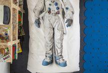 Rocket themed bedroom