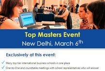 Study Masters and MBA Abroad / Each year @AccessMasters introduces thousands of students to their dream b-schools. Join the next Masters events in New Delhi, Bangalore and Mumbai in March and meet school representatives from the world's best business programmes!