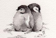 pinguine schwarz weiss